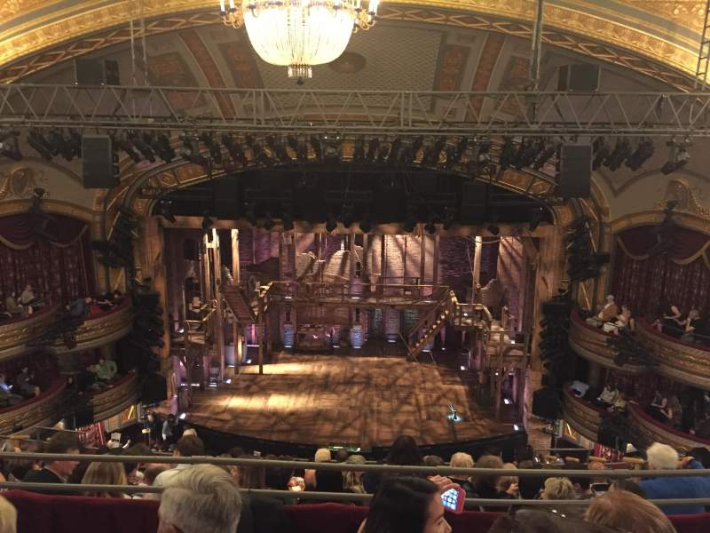 Seating view for Richard Rodgers Theatre Section Rear Mezzanine Row C Seat 105