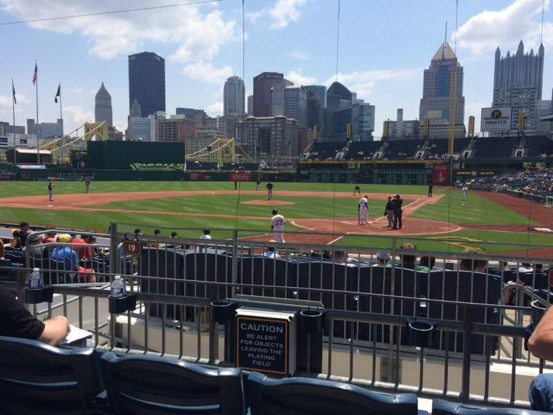 Seating view for PNC Park Section 119