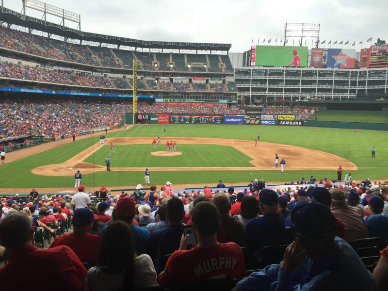 Seating view for Globe Life Park in Arlington Section 32 Row 32 Seat 2