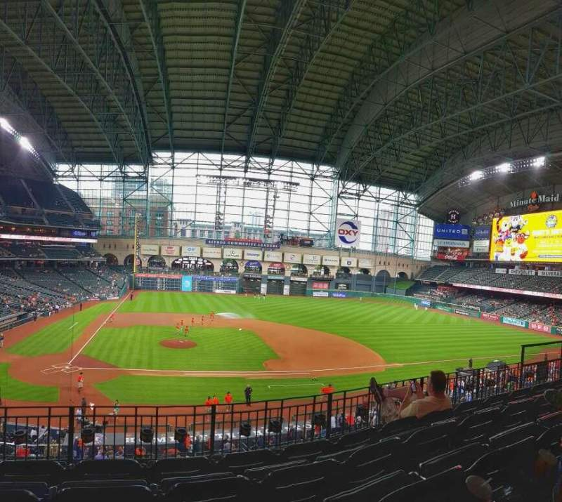Seating view for Minute Maid Park Section 224 Row 5 Seat 4
