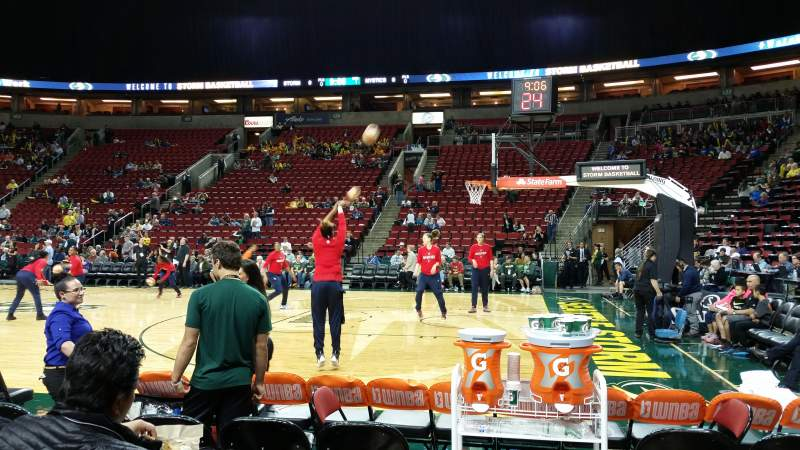 Seating view for KeyArena Section 115 Row 2 Seat 12