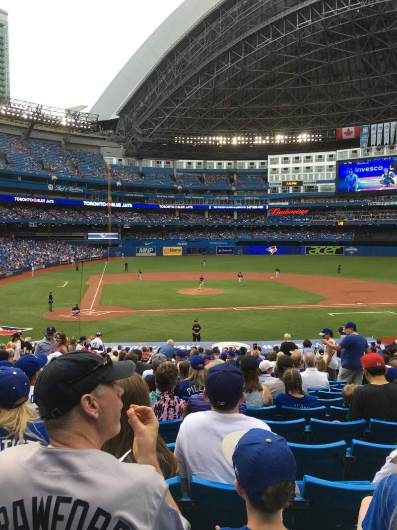 Seating view for Rogers Centre Section 118L Row 33 Seat 107