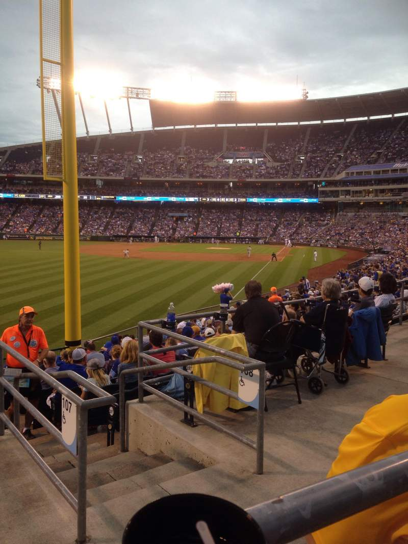 Seating view for Kauffman Stadium Section 107