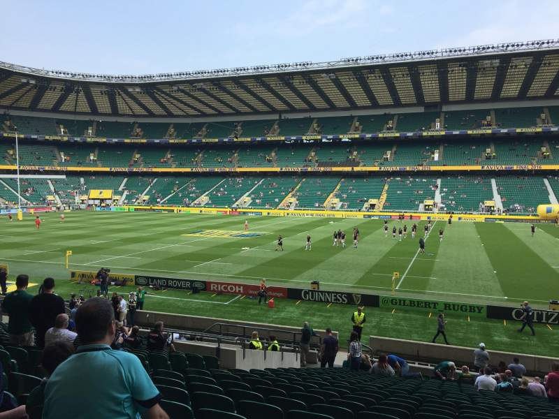 Seating view for Twickenham Stadium Section L4 Row 29 Seat 184