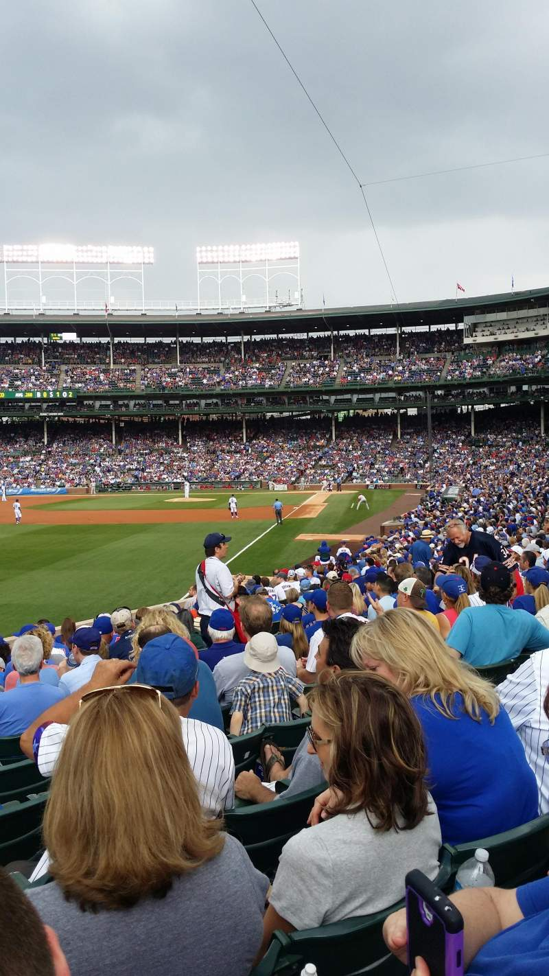 Seating view for Wrigley Field Section 101 Row 14 Seat 2