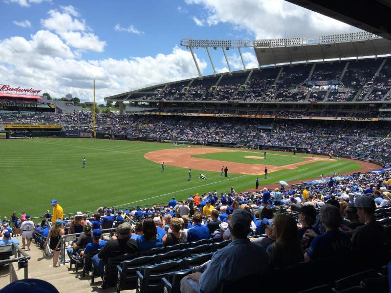 Seating view for Kauffman Stadium Section 210 Row NN Seat 13