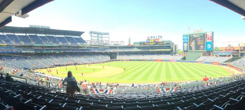 Seating view for Turner Field Section 219 Row 11 Seat 8