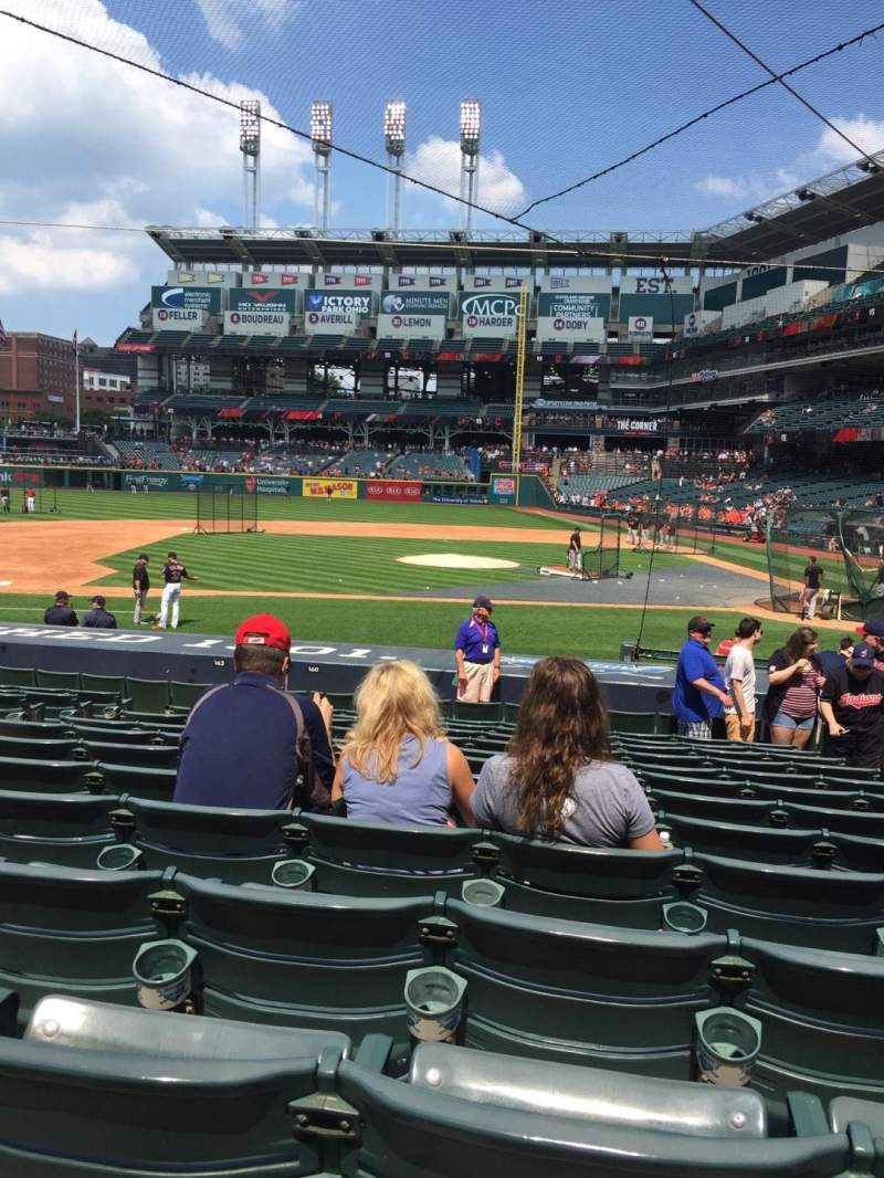 Seating view for Progressive Field Section 160 Row U Seat 4