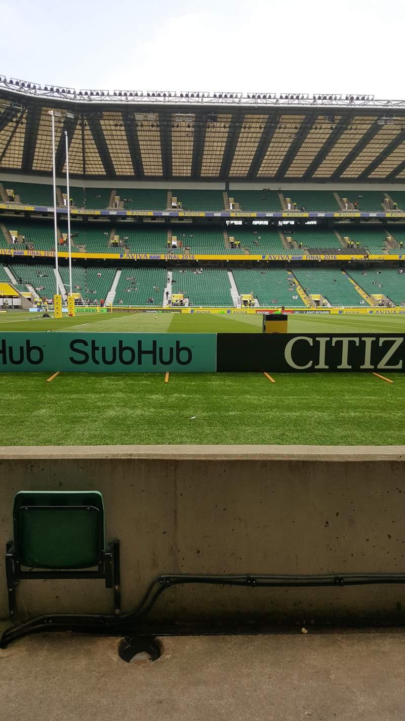 Seating view for Twickenham Stadium Section L9 Row 4 Seat 354