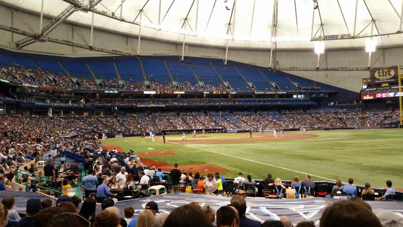 Seating view for Tropicana Field Section 135 Row S Seat 13