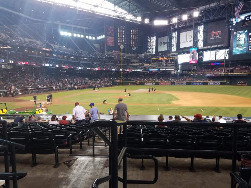 Seating view for Chase Field Section 116 Row 23 Seat 20
