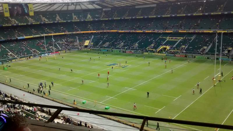 Seating view for Twickenham Stadium Section U27 Row C Seat 88