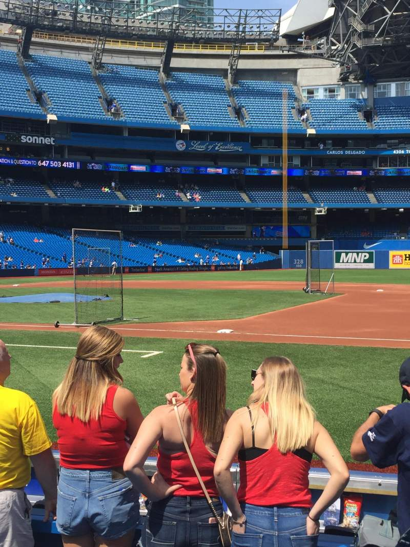 Seating view for Rogers Centre Section 115L Row 5 Seat 108