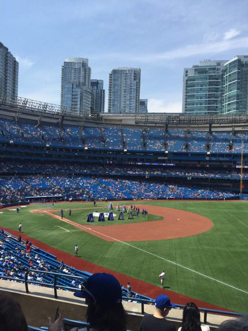 Seating view for Rogers Centre Section 213R Row 6 Seat 4