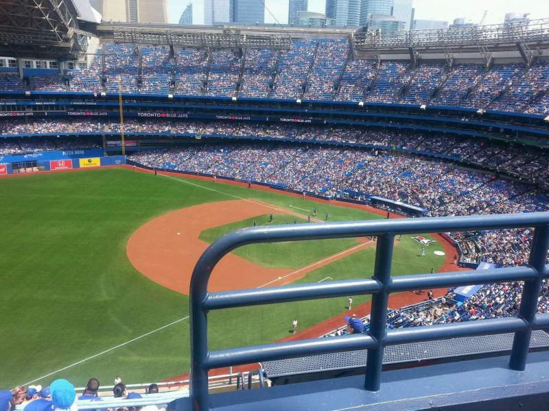 Seating view for Rogers Centre Section 534l Row 10 Seat 101