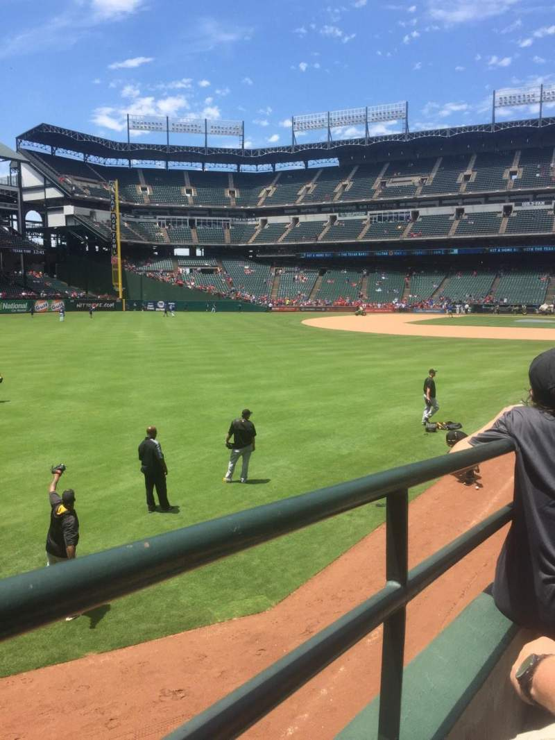 Seating view for Globe Life Park in Arlington Section 10 Row 15 Seat 6