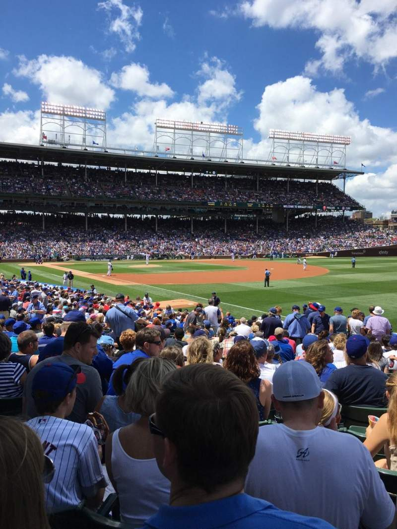 Seating view for Wrigley Field Section 138 Row 13 Seat 7