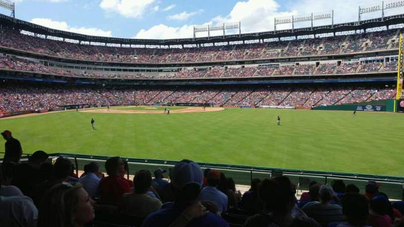 Seating view for Globe Life Park in Arlington Section 49 Row 13 Seat 13
