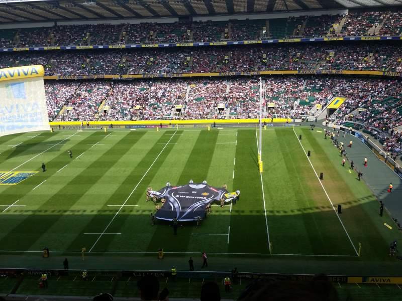 Seating view for Twickenham Stadium Section U4 Row E Seat 75/76