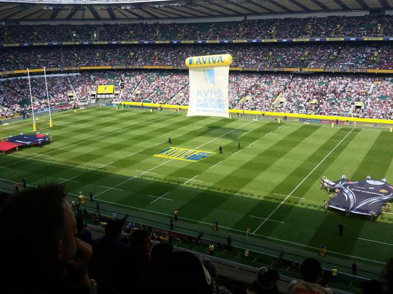 Seating view for Twickenham Stadium Section U4 Row E Seat 75/76