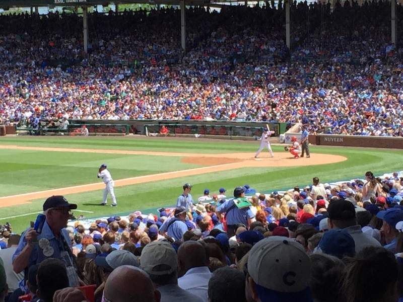 Seating view for Wrigley Field Section 209 Row 1 Seat 105