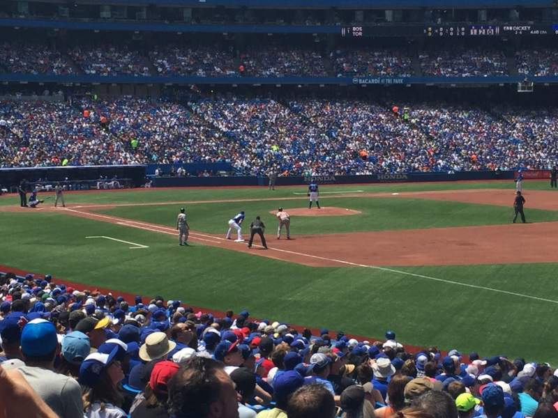 Seating view for Rogers Centre Section 113B Row 26 Seat 10