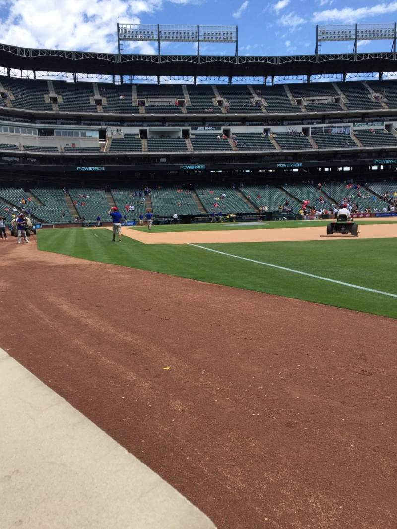 Seating view for Globe Life Park in Arlington Section 38 Row 1 Seat 6