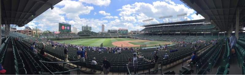 Seating view for Wrigley Field Section 211 Row 5 Seat 107