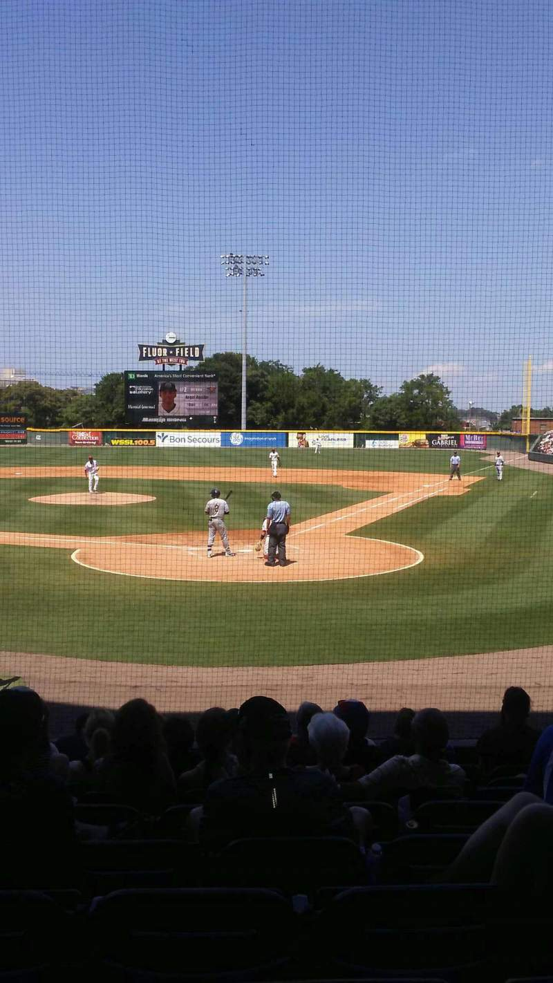 Seating view for Fluor Field Section 107 Row L Seat 10