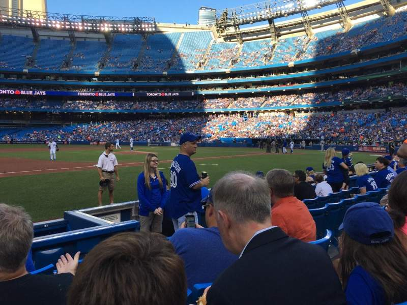 Seating view for Rogers Centre Section 128 Row 5 Seat 107
