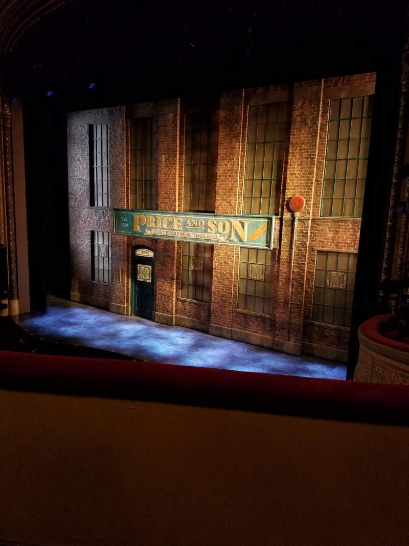 Seating view for Al Hirschfeld Theatre Section Mezzanine Right Row B Seat 16