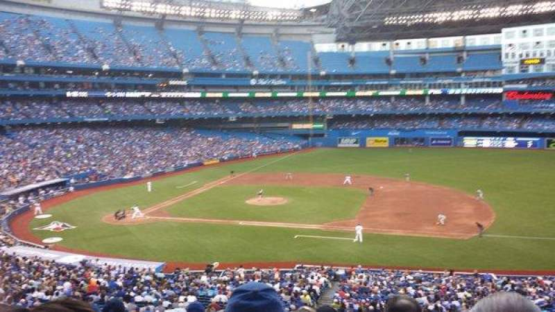 Seating view for Rogers Centre Section 218R Row 8 Seat 10