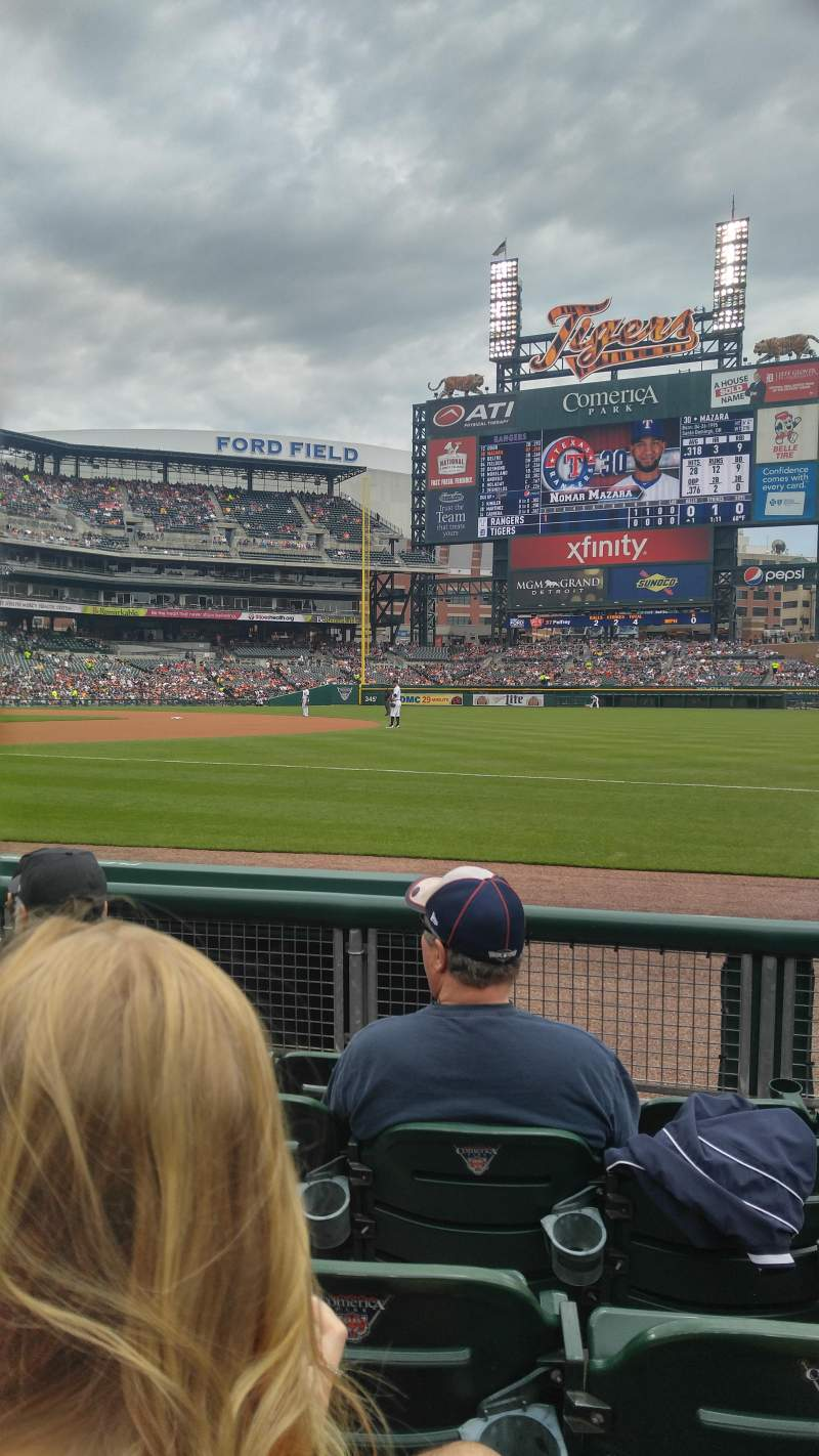 Seating view for Comerica Park Section 117 Row 5 Seat 13
