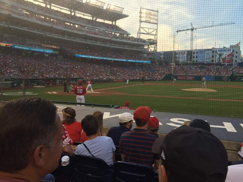 Seating view for Nationals Park Section 128 Row H Seat 9