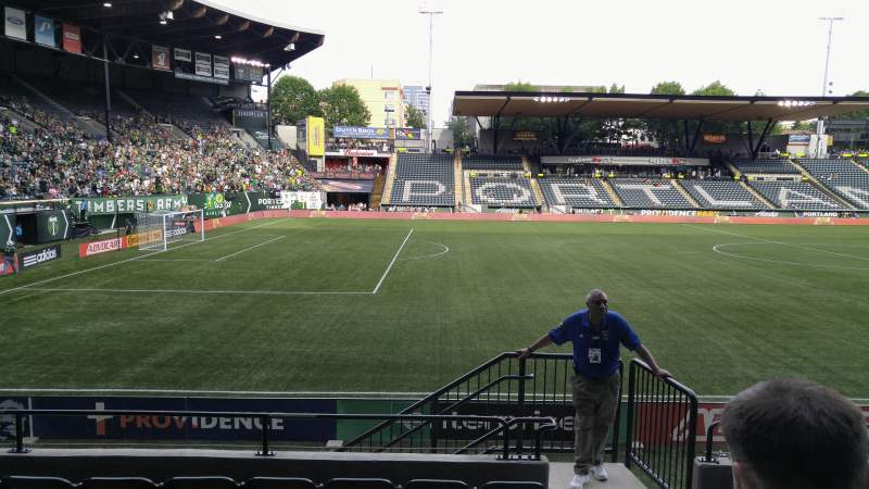 Seating view for Providence Park Section 115 Row G Seat 17