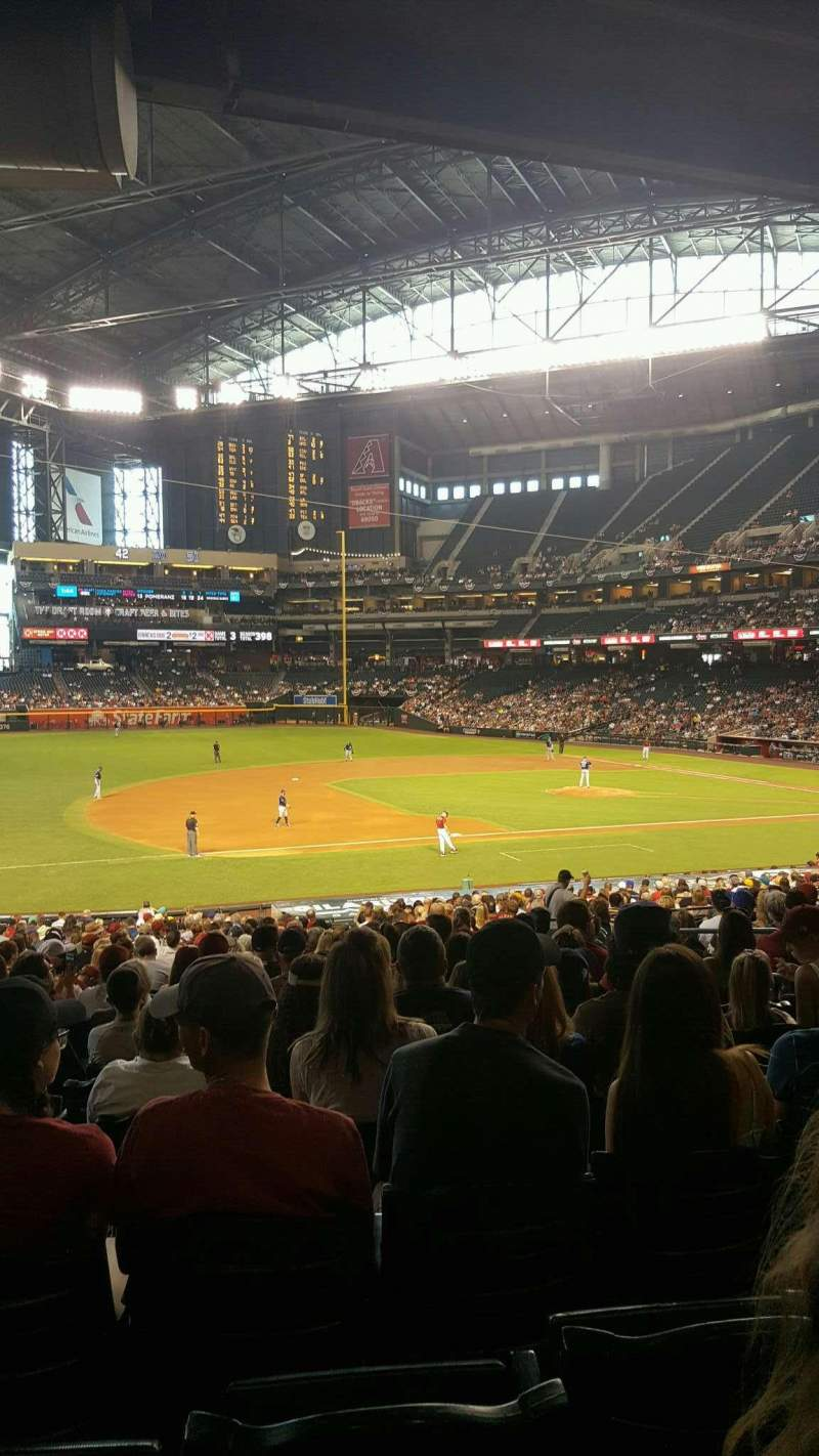Seating view for Chase Field Section 130 Row 36 Seat 7