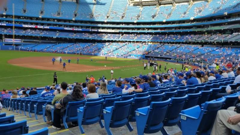 Seating view for Rogers Centre Section 130AR Row 26 Seat 1