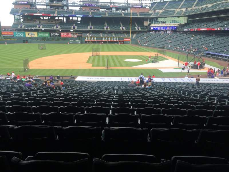 Seating view for Coors Field Section 138 Row 37 Seat 6