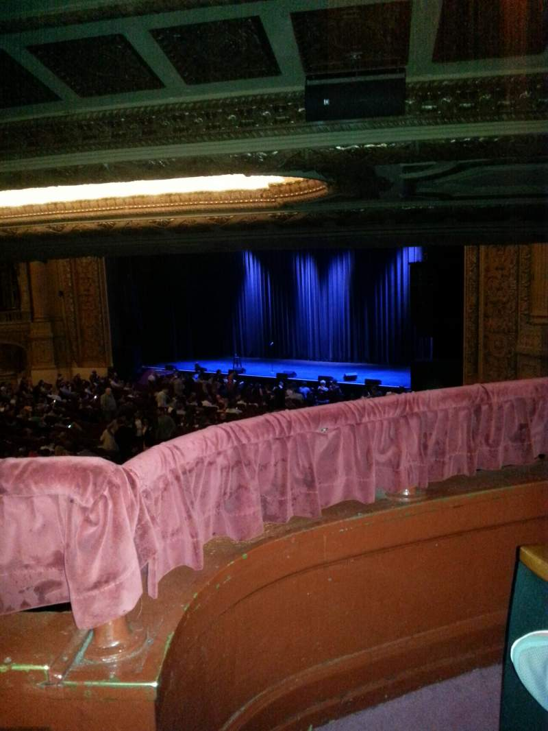 Seating view for Chicago Theatre Section Box F Seat 6