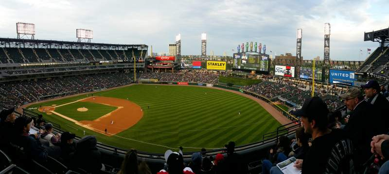 Seating view for U.S. Cellular Field Section 518 Row 8 Seat 10