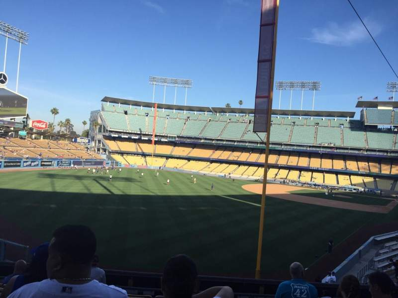 Seating view for Dodger Stadium Section 165LG Row H Seat 1