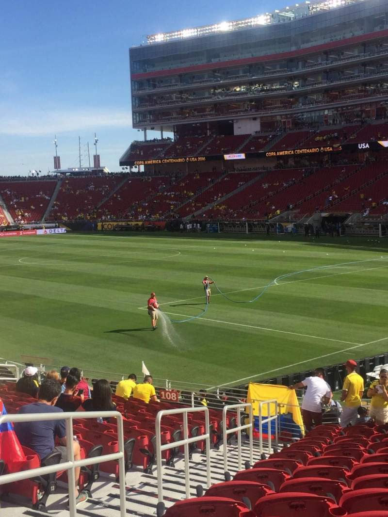 Seating view for Levi's Stadium Section 107 Row 10 Seat 20