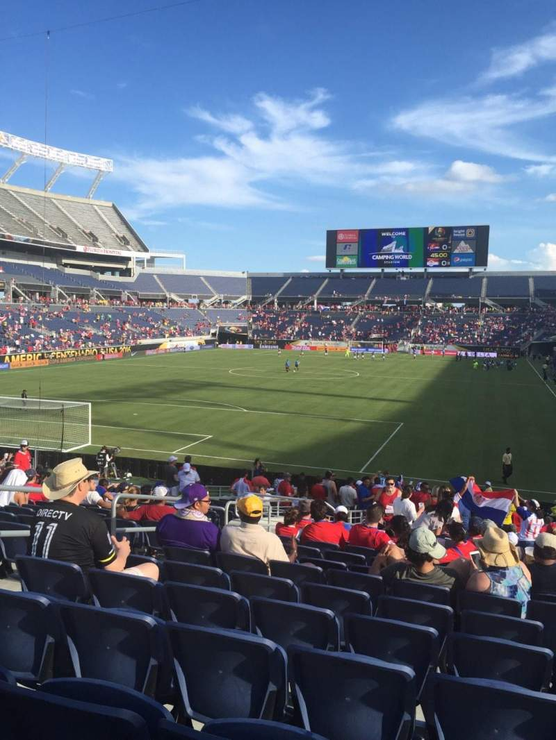 Seating view for Camping World Stadium Section 145 Row Aa Seat 31