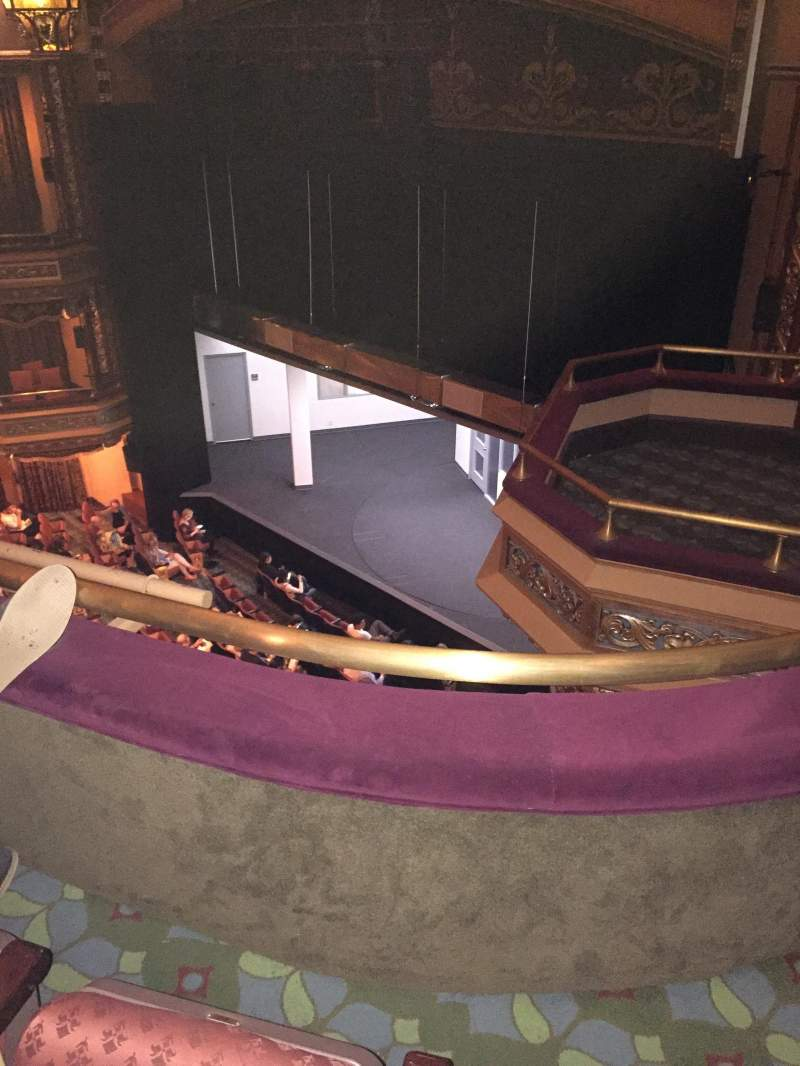 Seating view for Belasco Theatre Section Balcony Row B Seat 26
