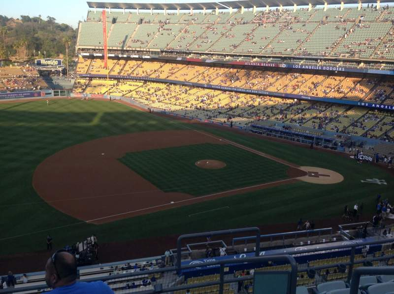 Seating view for Dodger Stadium Section 27RS Row F Seat 3