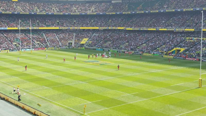 Seating view for Twickenham Stadium Section M26 Row 55 Seat 34