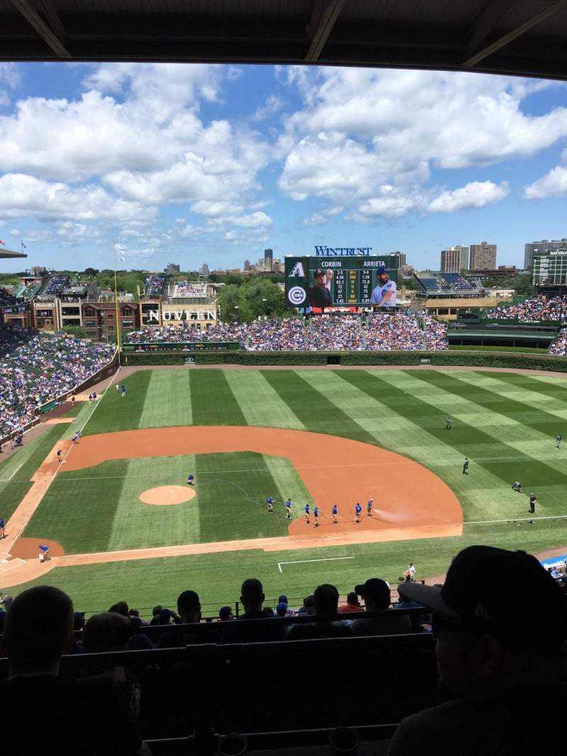 Seating view for Wrigley Field Section 527 Row 3 Seat 9