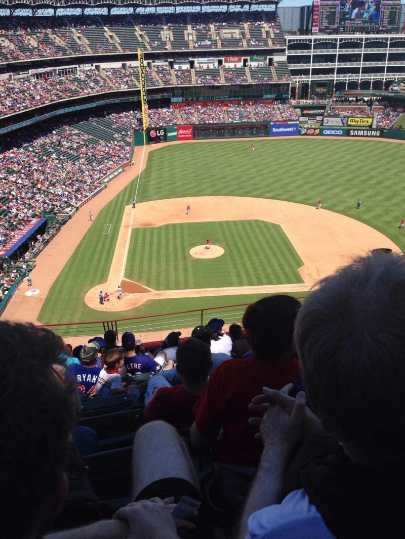 Seating view for Globe Life Park in Arlington Section 330 Row 10 Seat 12