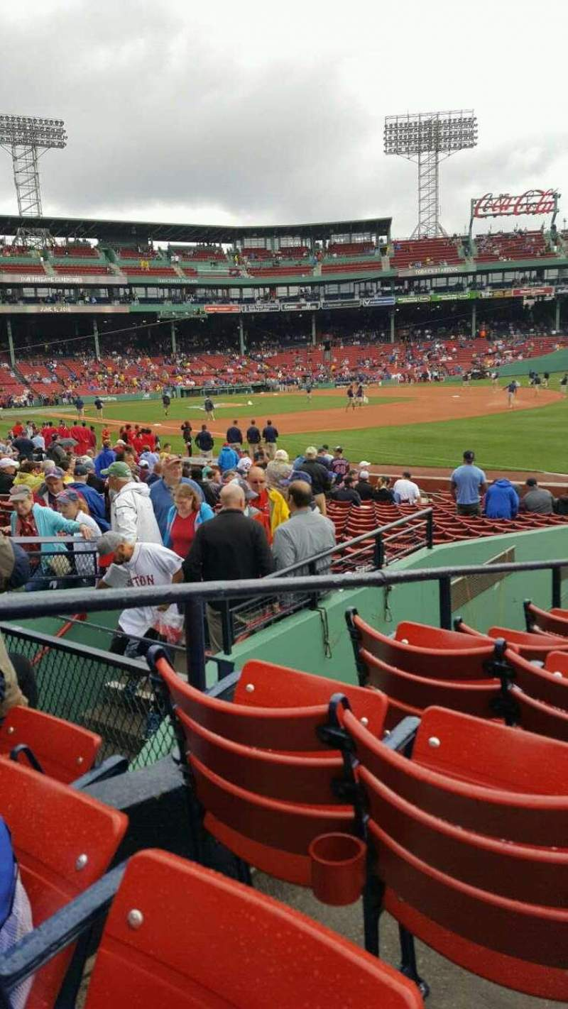 Seating view for Fenway Park Section B97 Row LL Seat 10