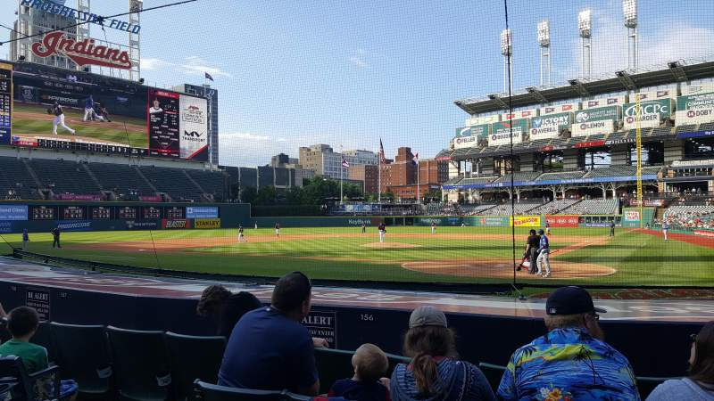 Seating view for Progressive Field Section 156 Row N Seat 5
